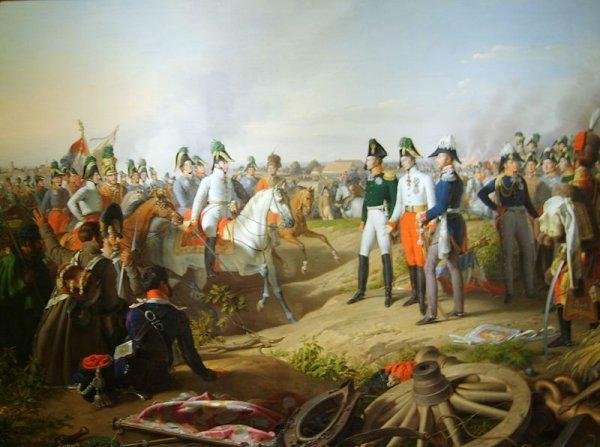 Polní maršál Karel I. Filip Schwarzenberg oznamuje vítězství v bitvě národů u Lipska