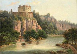 Zámek Orlík před zatopením Orlické přehrady